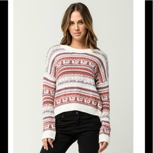 NWT Roxy Alive in Love Sweater